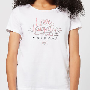 Friends Love Laughter Damen T-Shirt - Weiß