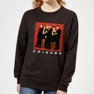Friends Character Pose Women's Sweatshirt - Black