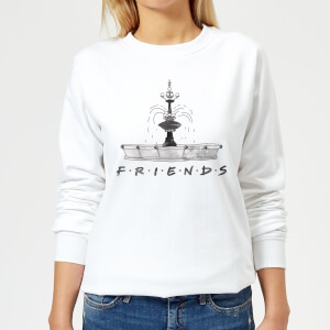 Friends Fountain Sketch Women's Sweatshirt - White