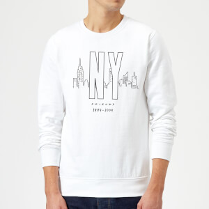 Friends NY Skyline Sweatshirt - White