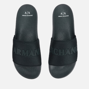 Armani Exchange Men's Mesh Slide Sandals - Dress Blue
