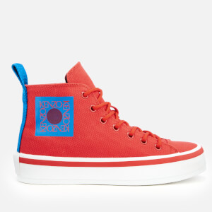 KENZO Women's K-Street Hi-Top Trainers - Medium Red