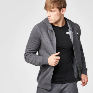 Myprotein Tru-Fit Zip Up Hoodie - Charcoal