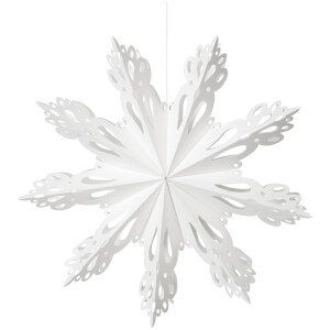 Broste Copenhagen Paper Snowflake Christmas Decoration - Medium - White