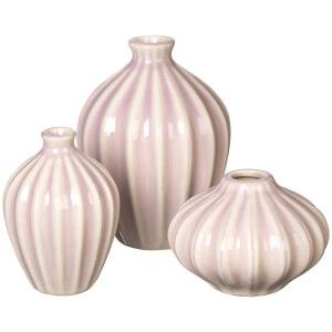 Broste Copenhagen Amalie Ceramic Vases - Lavender Frost (Set of 3)