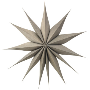 Broste Copenhagen Wooden Star Venok Decoration - Large - Fungi