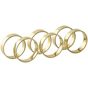 Broste Copenhagen Napkin Rings - Brass (Set of 6)