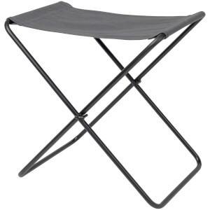Broste Copenhagen Nola Stool - Canvas and Iron - Dark Shadow