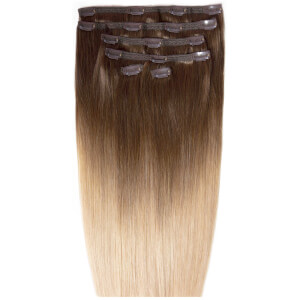 Beauty Works Double Hair Set 18 Inch Clip-In Hair Extensions – #High Contrast Warm