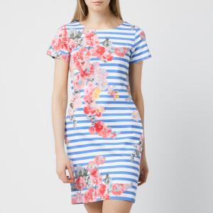 Joules Women's Ottie Jersey Mix Dress - Blue Stripe Floral