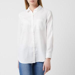 Joules Women's Jeanne Longline Linen Shirt - White