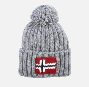 Napapijri Men's Bobble Hat - Medium Grey