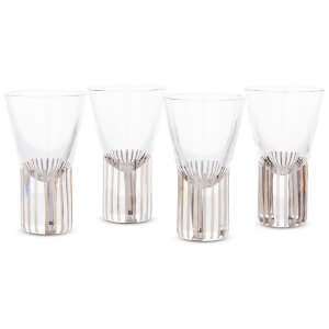 Tom Dixon Tank Shot Glasses - Platinum Stripe