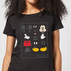 Disney Mickey Mouse Construction Kit Women's T-Shirt - Black