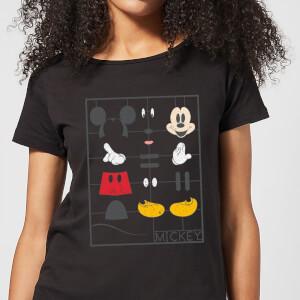 Disney Mickey Mouse Construction Kit Women's T-Shirt - Black