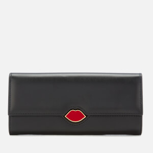 Lulu Guinness Women's Lips Cora Wallet - Black