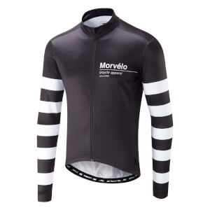 Morvelo Swiss Thermoactive Long Sleeve Jersey - Black/White