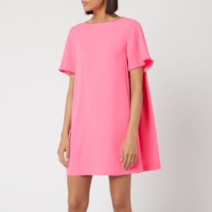 McQ Alexander McQueen Women's Flared Trapeze Dress - Shocking Pink