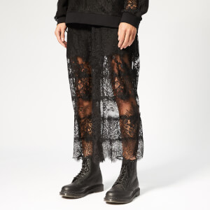 McQ Alexander McQueen Women's Lace Stripe Trackpants - Darkest Black