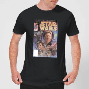 T-Shirt Homme Couverture Comics Star Wars Classic - Noir