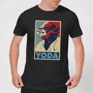 Star Wars Yoda Poster Men's T-Shirt - Black