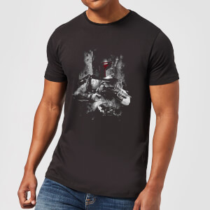 Star Wars Boba Fett Distressed Men's T-Shirt - Black