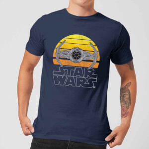 Star Wars Classic Sunset Tie Herren T-Shirt - Navy Blau