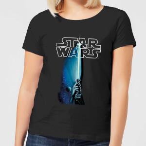 T-Shirt Femme Sabre Laser Star Wars Classic - Noir