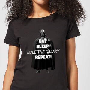 Star Wars Eat Sleep Rule The Galaxy Repeat Women's T-Shirt - Black