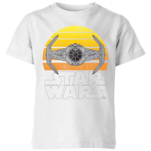 Star Wars Classic Star Wars Sunset Tie Kinder T-Shirt - Weiß