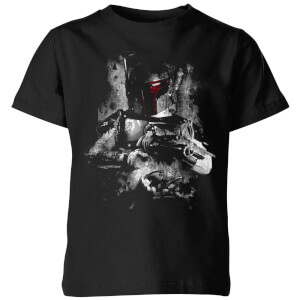 Star Wars Classic Boba Fett Distressed Kinder T-Shirt - Schwarz