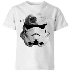 Star Wars Command Stromtrooper Death Star Kids' T-Shirt - White