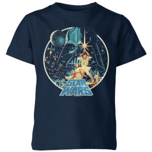 Star Wars Vintage Victory Kids' T-Shirt - Navy