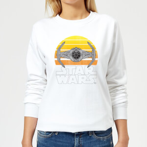 Star Wars Sunset Tie Women's Sweatshirt - White