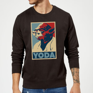 Sweat Homme Poster Yoda Star Wars Classic - Noir