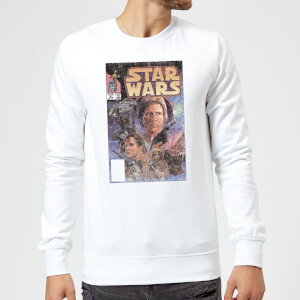 Star Wars Classic Comic Book Cover Sweatshirt - White