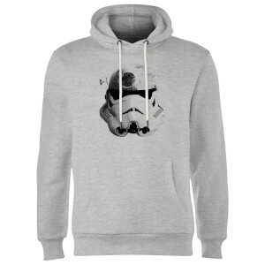 Star Wars Command Stromtrooper Death Star Hoodie - Grey