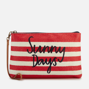 Joules Women's Sunny Days Clutch Bag - Red Stripe