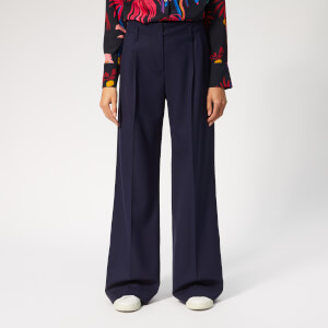 PS Paul Smith Women's High Waisted Trousers - Navy