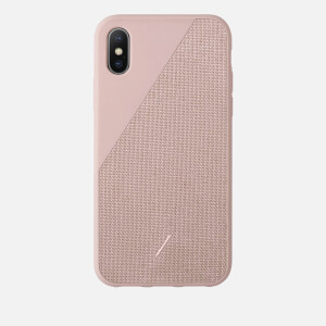 Native Union Clic Canvas iPhone Xs Case - Rose