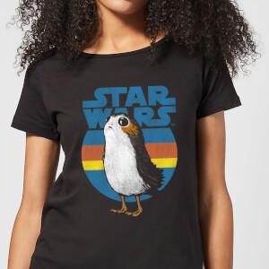 T-Shirt Femme Porg Star Wars - Noir