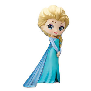 Banpresto Q Posket Disney Frozen Elsa Figure 14cm (Normal Colour Version)
