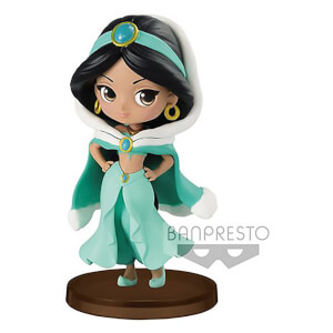 Banpresto Q Posket Petit Girls Festival Disney Aladdin Jasmine Figure 7cm (Winter Dress)