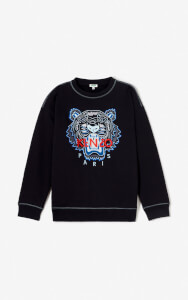 KENZO Men's New Embroider Tiger Sweatshirt - Black