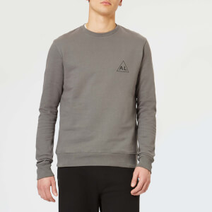 Avant L'Oeil Men's Breast Logo Basic Sweatshirt - Grey