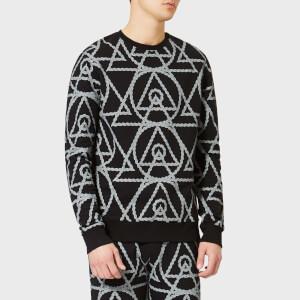 Avant L'Oeil Men's Rope Print Sweatshirt - Black