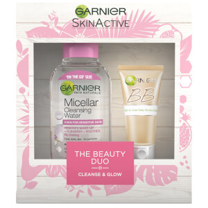 Garnier Cleanse and Glow Beauty Duo Christmas Gift (Worth £11.98)