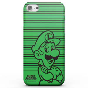 Cover telefono Nintendo Super Mario Luigi Retro Colour Line Art per iPhone e Android