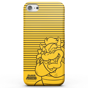 Nintendo Super Mario Bowser Retro Colour Line Art Phone Case for iPhone and Android