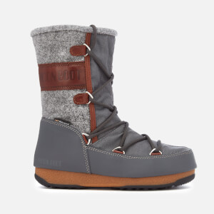 Moon Boot Women's Vienna Felt Waterproof Boots - Grey/Brown